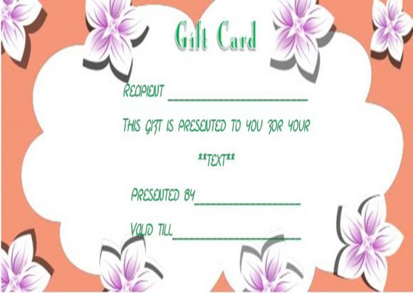 Facial gift certificates template SPA Gift Certificate Templates - gift certificates samples
