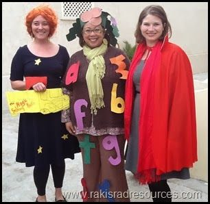 Can you guess what book characters we are? Even teachers got in ...