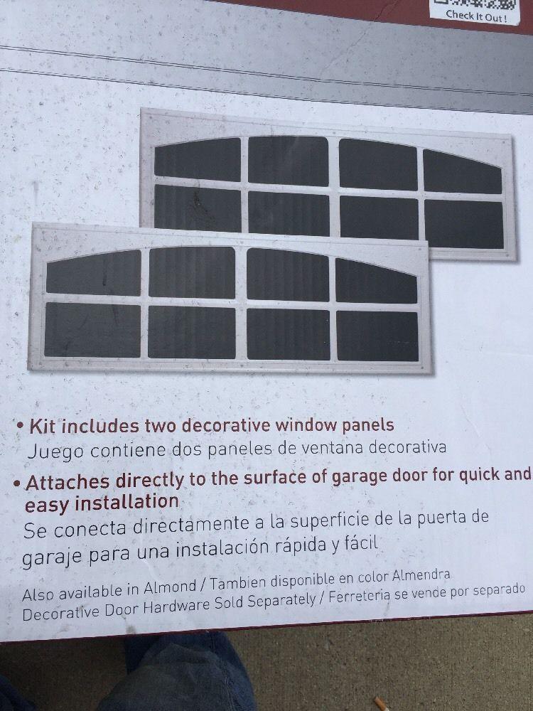 Crown Metalworks White Decorative Faux Window 2 Per Pack Garage Door Hardware Crownbolt Garage Door Hardware Garage Doors