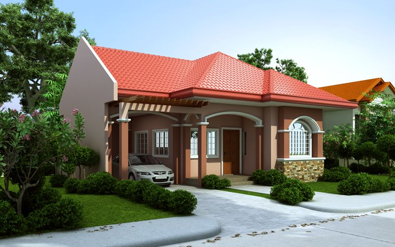 Pinoy house design 2015005 is a one storey house design for Average house floor area