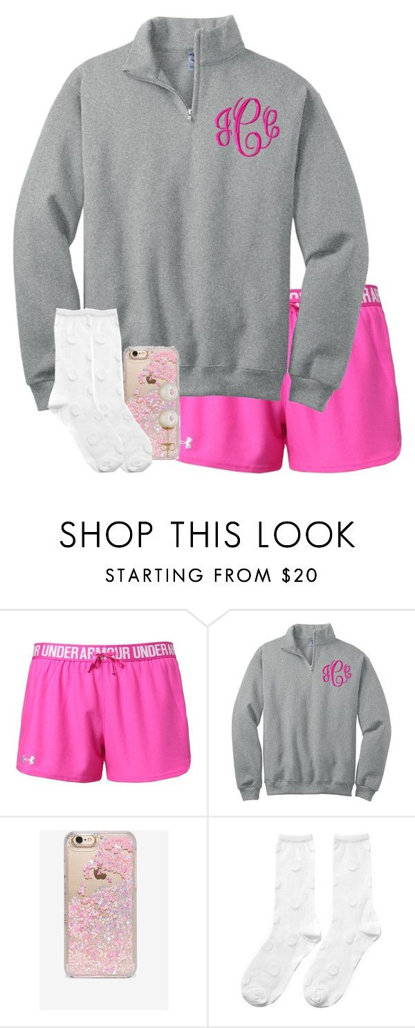 """""""Comment who you are pulling for in the super bowl!!!!"""" by hgw8503 ❤ liked on Polyvore featuring Under Armour, Skinnydip, Hansel from Basel, Honora, women's clothing, women, female, woman, misses and juniors"""