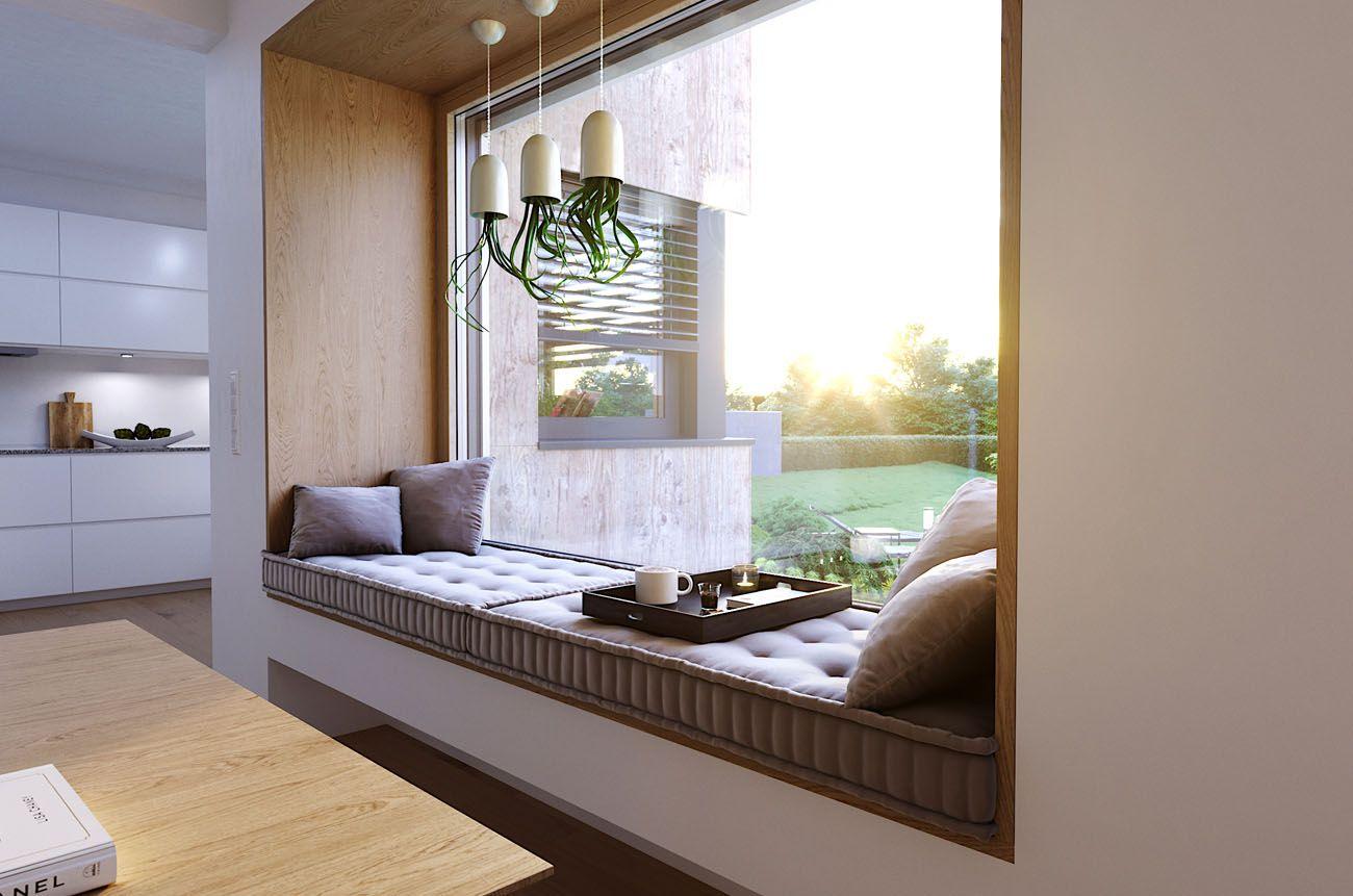 fensternische bietet ihnen platz f r entspannte stunden wohnen in 2019 haus fenster und. Black Bedroom Furniture Sets. Home Design Ideas