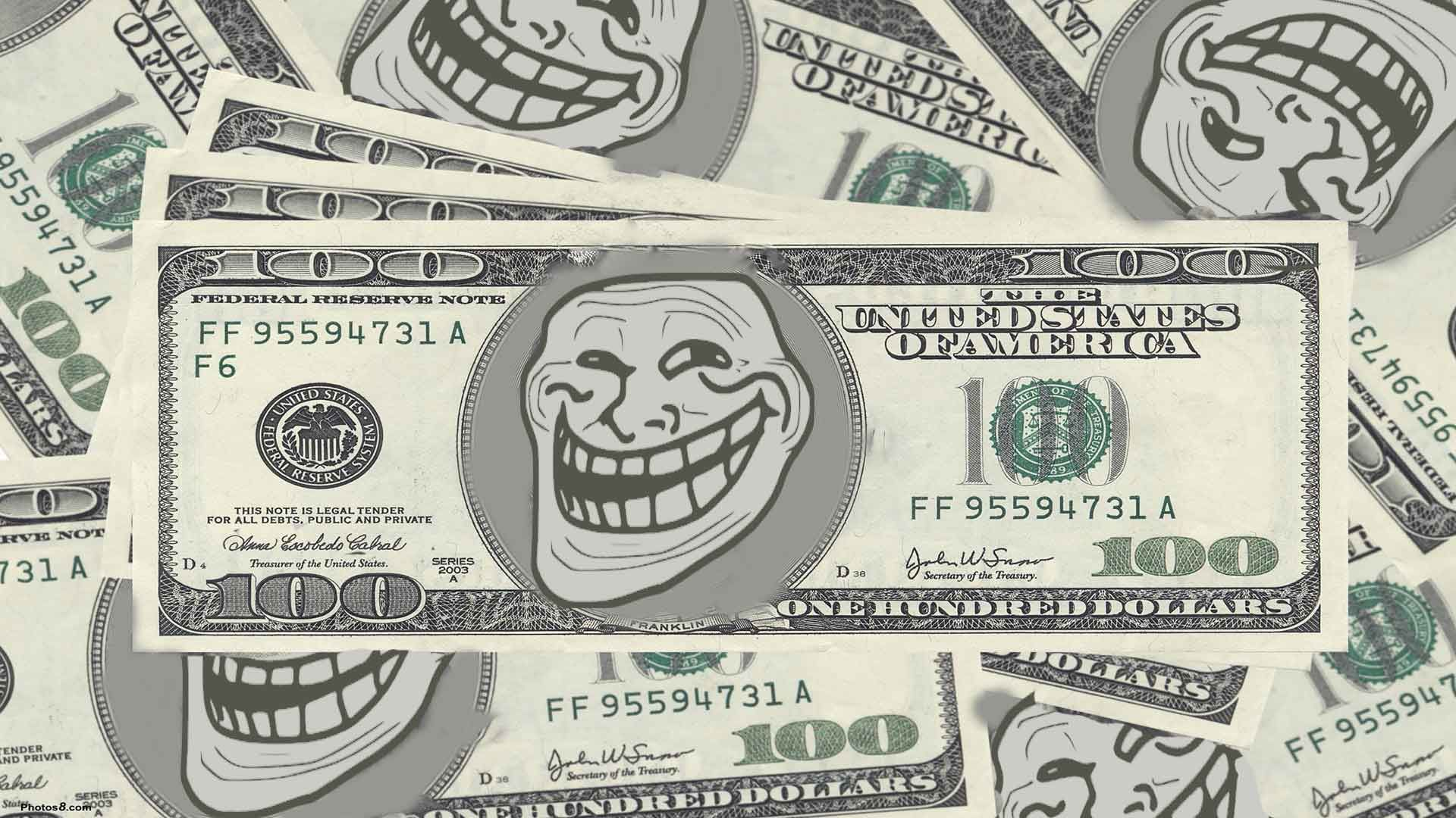 I first cut down the troll face then match color with the money i first cut down the troll face then match color with the money background voltagebd Image collections