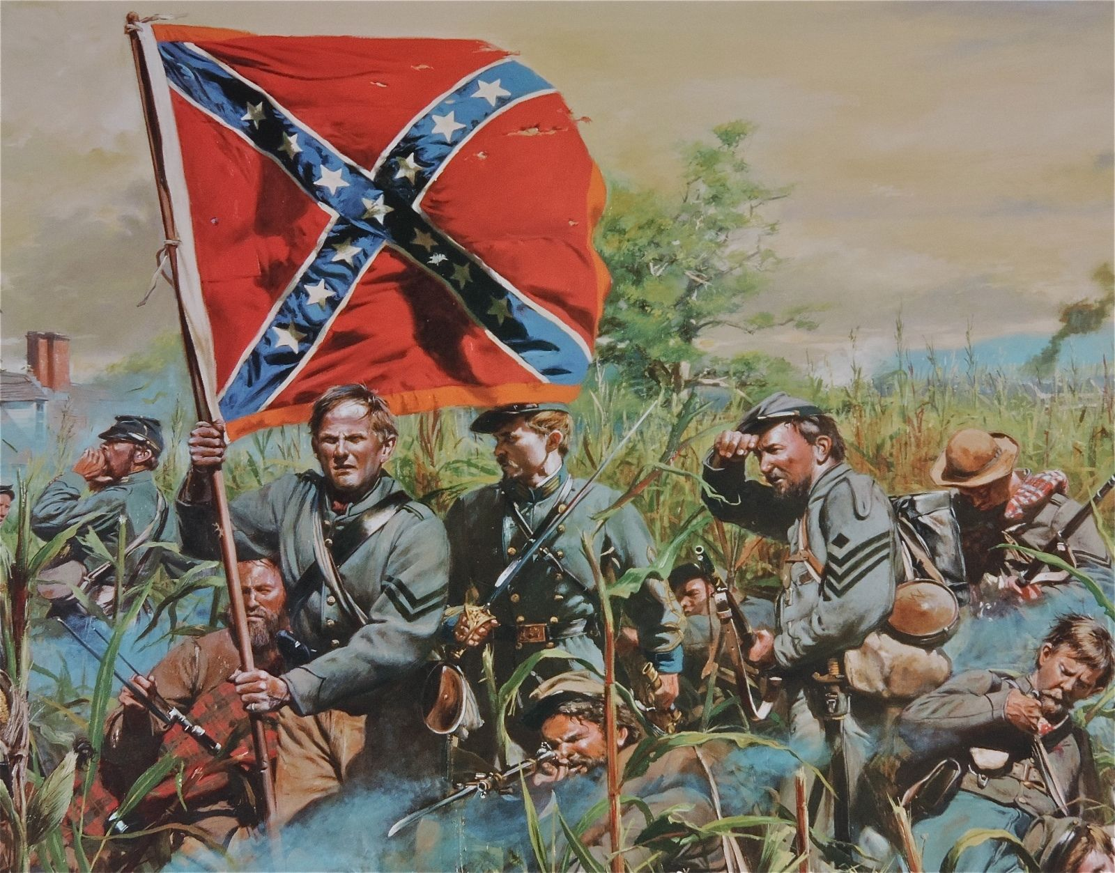 """2nd Tennessee Regiment/"""" Don Troiani Civil War Print /""""Cleburne at Chickamauga"""