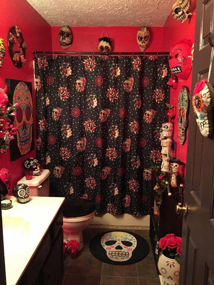 Day Of The Dead Themed Bathroom With Images Bathroom Design