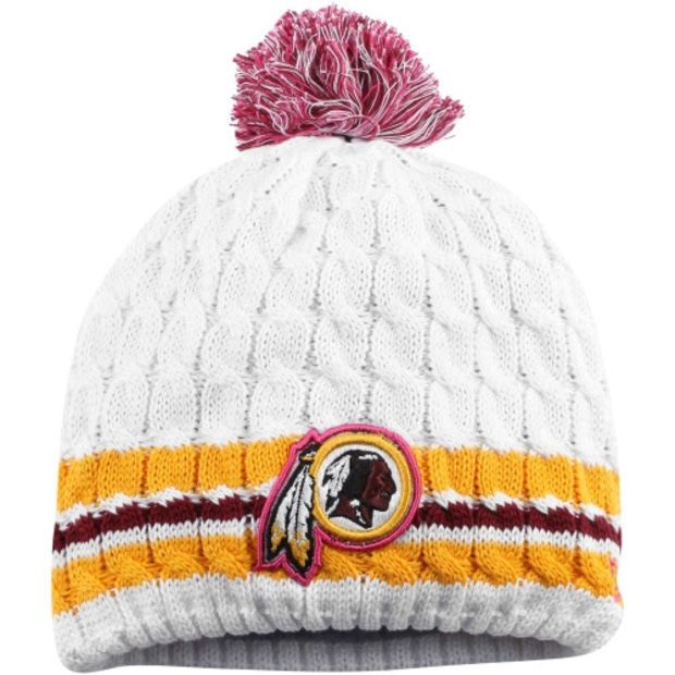 promo code for redskins womens 2014 white washington nfl new era breast cancer  awareness knit 4fb7d f3fd8 d5b4741a7dd5