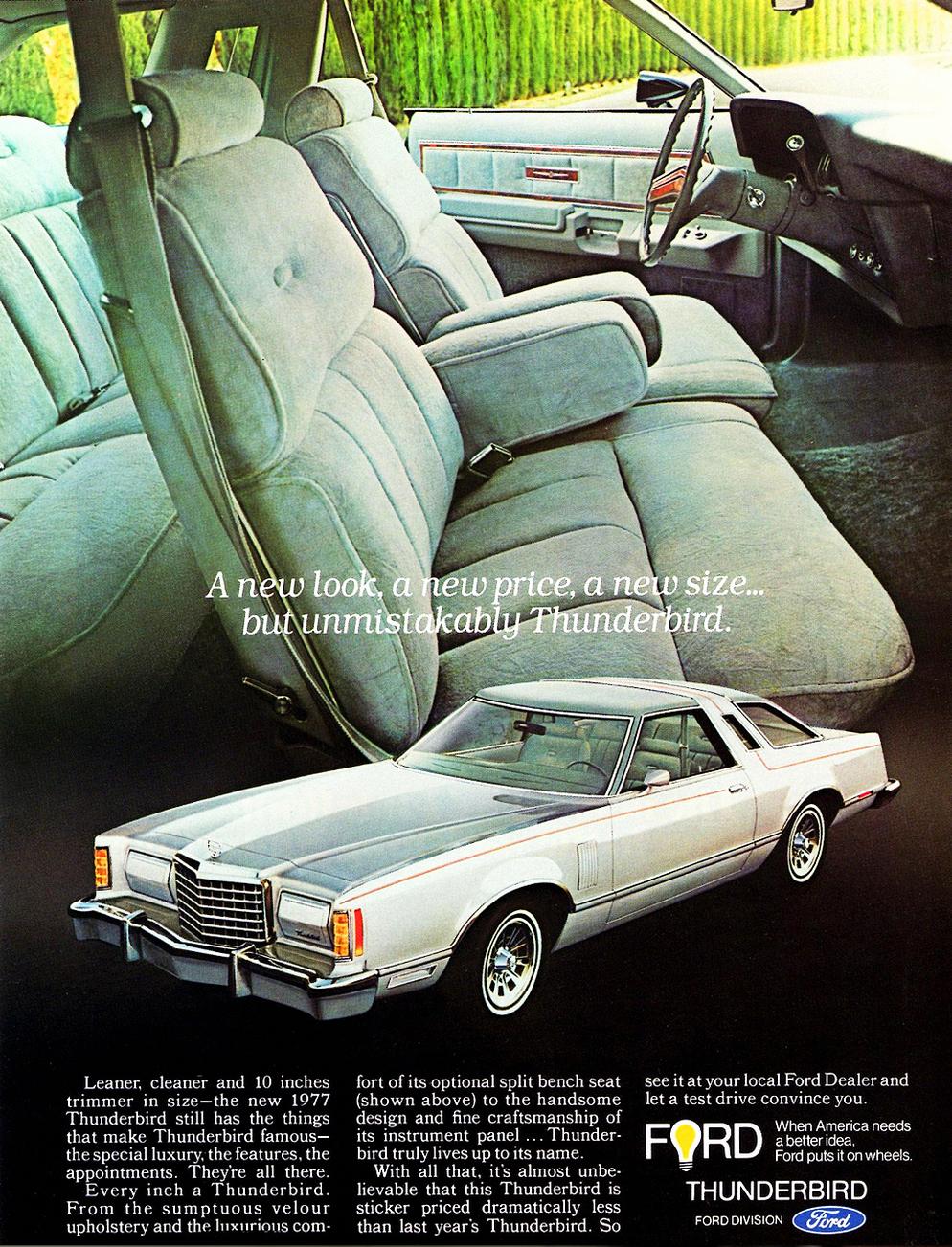 1977 Ford Thunderbird Ad Fordclassiccars Ford Thunderbird