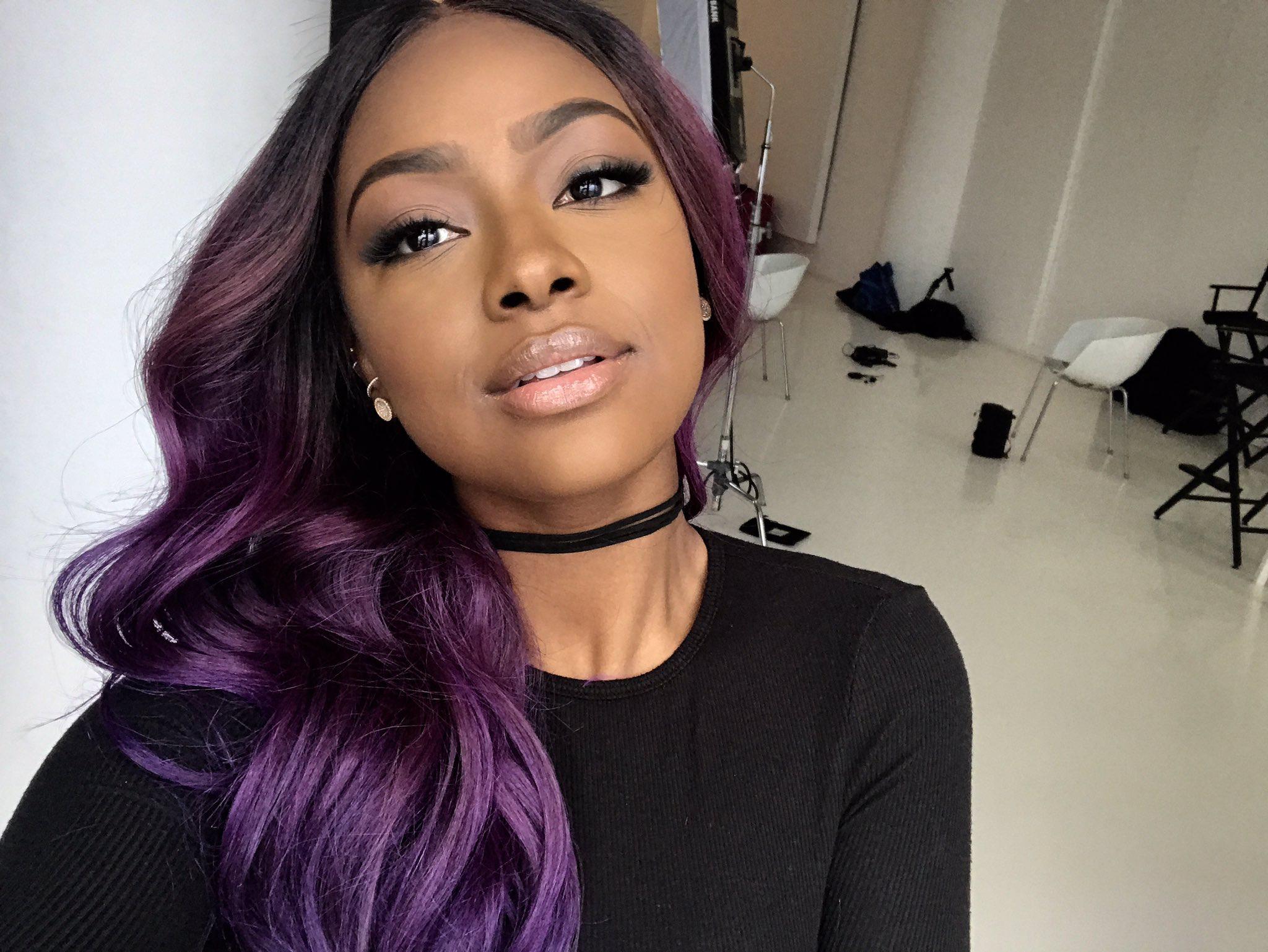 Purple Hair, Hair, Dyed Hair