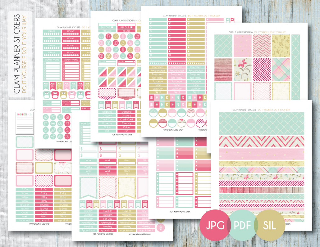 Free printable floral monthly planner sticker kit pdf jpg and free printable floral monthly planner sticker kit pdf jpg and silhouette files from solutioingenieria Choice Image