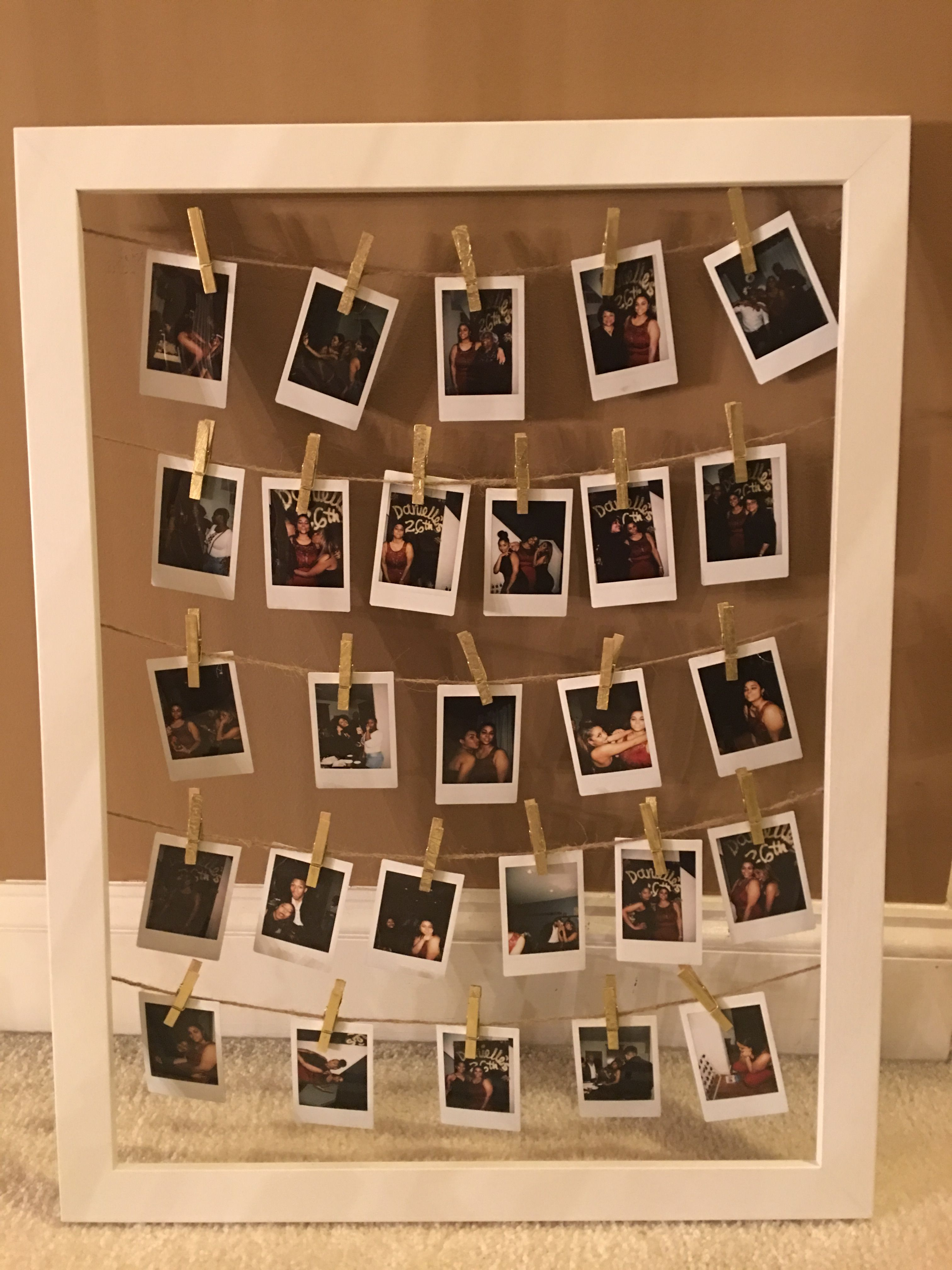 Instax Mini Photo Frame Idea  Display your Instax Mini Photos in a cute way – resim