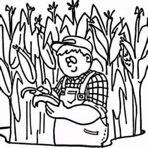 Corn Field Coloring Pages Sketch Template With Images Coloring