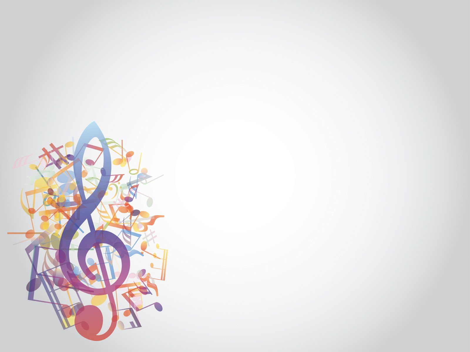colored music notes style ppt backgrounds music powerpoint