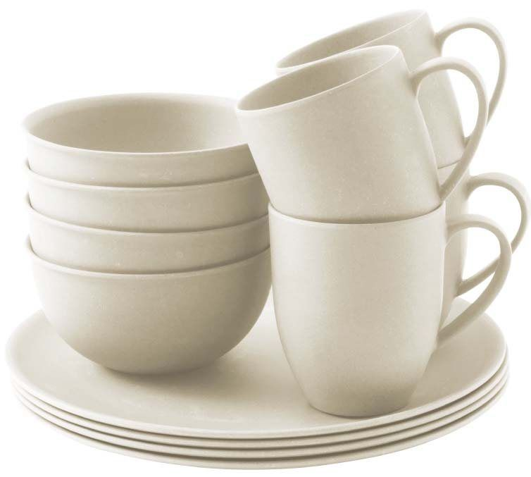 Outwell Bamboo 4 Person Dinner Set Campingworld Co Uk Bamboo Tableware Dinner Sets Bamboo Cups