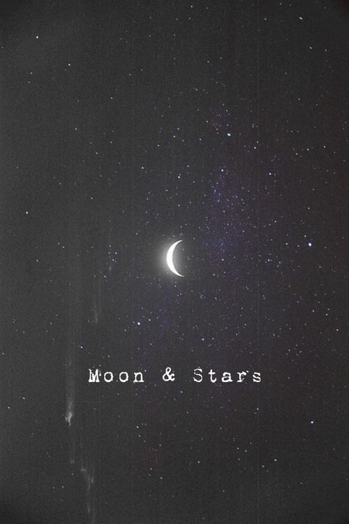 A different view. Stars and moon, Words, Stars