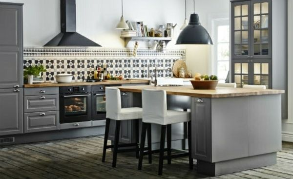 D co cuisine en gris par ikea d coration int rieure pinterest deco cuis - Decoration cuisine ikea ...