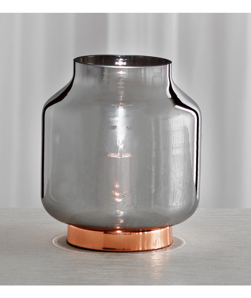 Buy heart of house genoa smoke glass table lamp copper at argos buy heart of house genoa smoke glass table lamp copper at argos geotapseo Image collections
