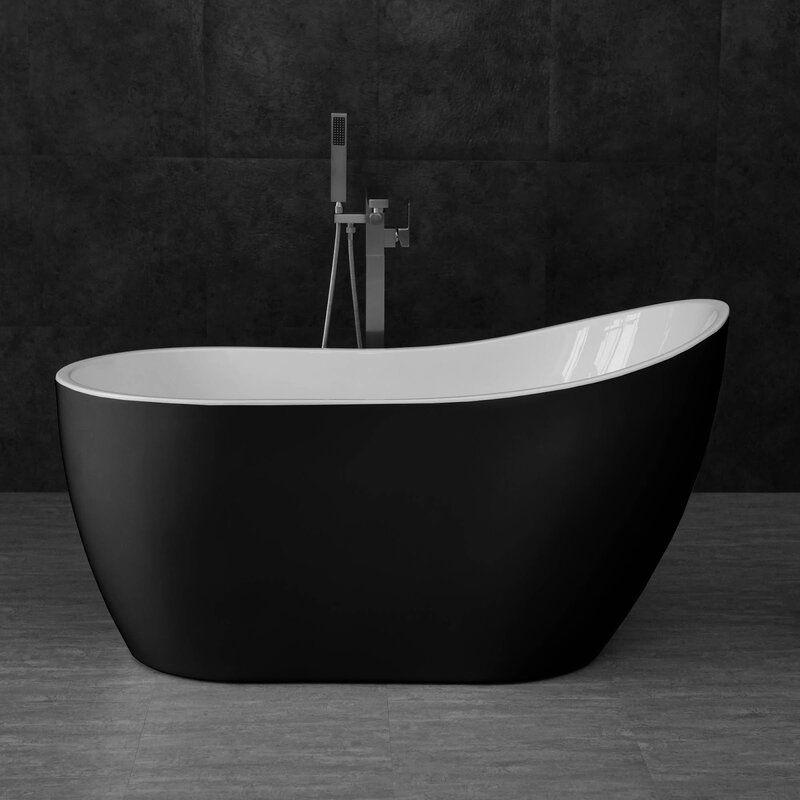 54 X 29 Freestanding Soaking Bathtub In 2020 Soaking Bathtubs Bathtub Free Standing Bath Tub