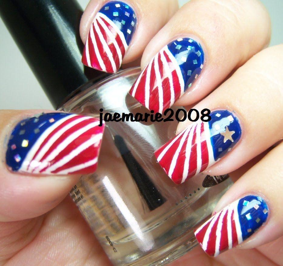 4th of july nail design 2012 nail art nail designs 4th of july nails nail art. Black Bedroom Furniture Sets. Home Design Ideas