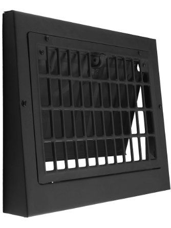 8 Quot X 12 Quot Black Painted Steel Grid Style Baseboard Register