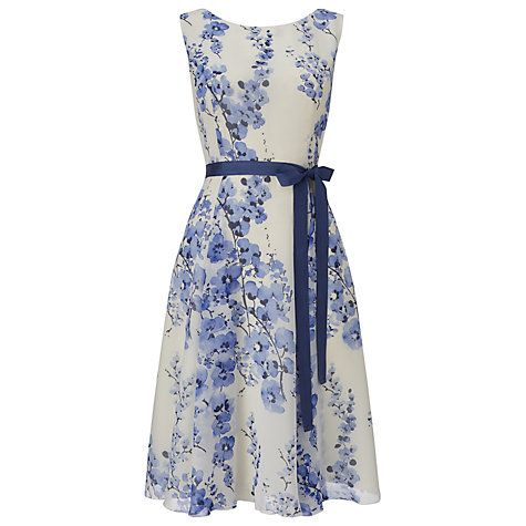 Buy Phase Eight Lana Blossom Dress, Sky Online at johnlewis.com ...