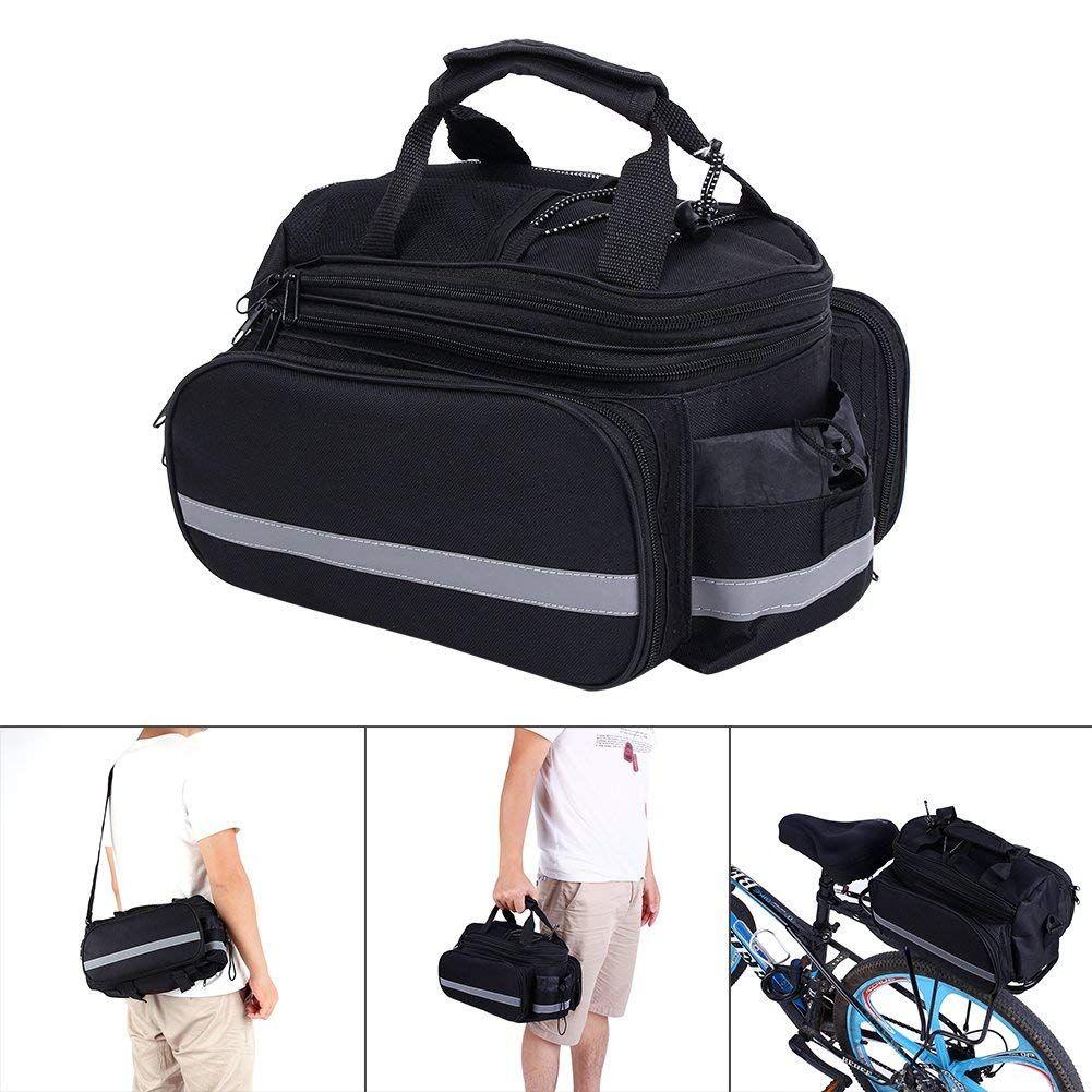 Bike pannier bag practical bicycle rear seat trunk