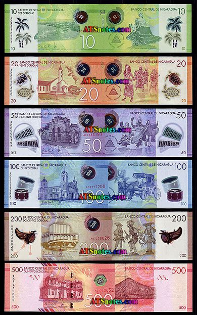 Nicaragua Banknotes Paper Money Catalog And Nicaraguan Currency History