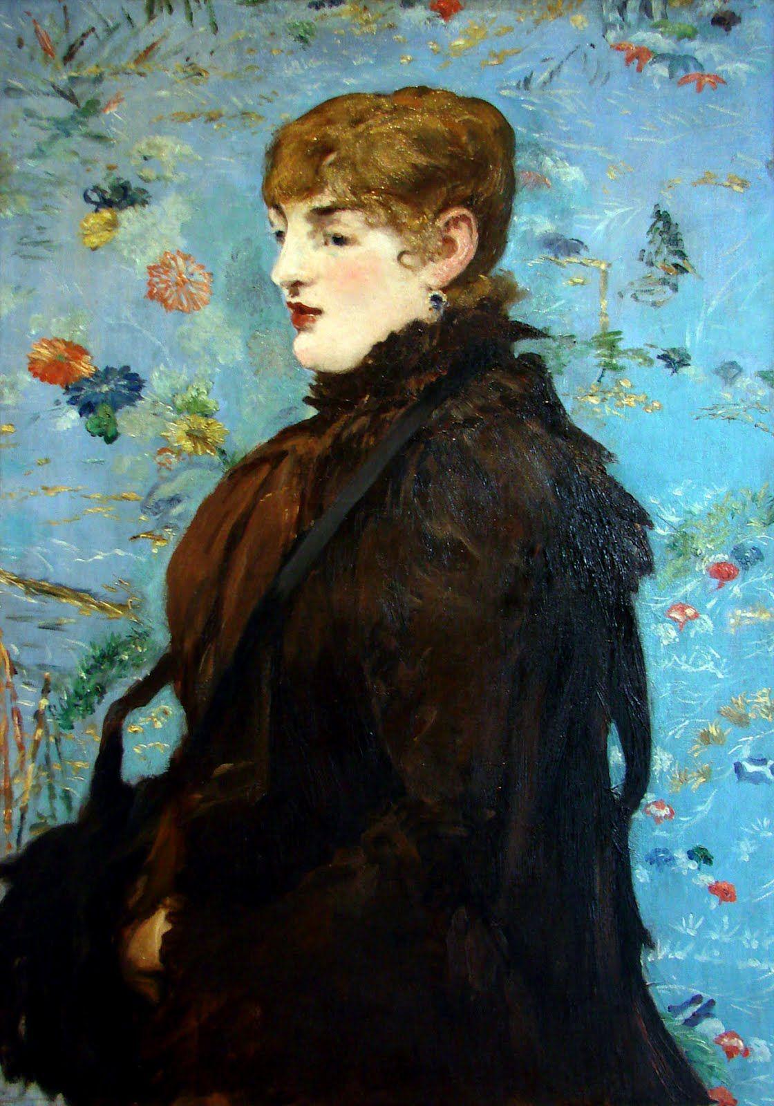 Edouard Manet : L'Automne (1882). Portrait de Anne Rose Louviot (demi-mondaine connue sous le nom de Méry Laurent ; modèle préféré du peintre).