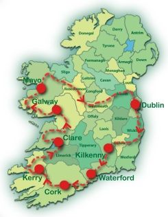 View A Map Of This Tour Ireland Ireland Travel Best Of Ireland