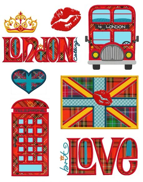 LONDON calling | Sticken/embroidery | Pinterest