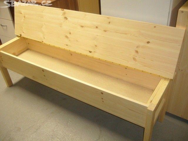 lavice s úložným prostorem, délka 160cm, materiál - obrázek číslo 1