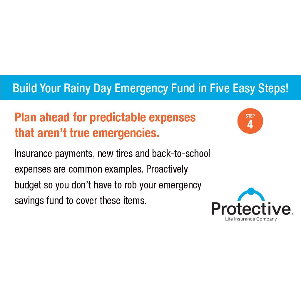 Emergency Fund Image By Protective Life Insurance Comp On Money Matters Emergency Savings How To Plan