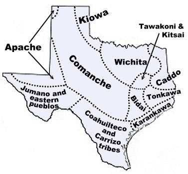 Map Of Texas For 4th Grade.Map Of Texas Tribes In The Past 4th Grade Social Studies