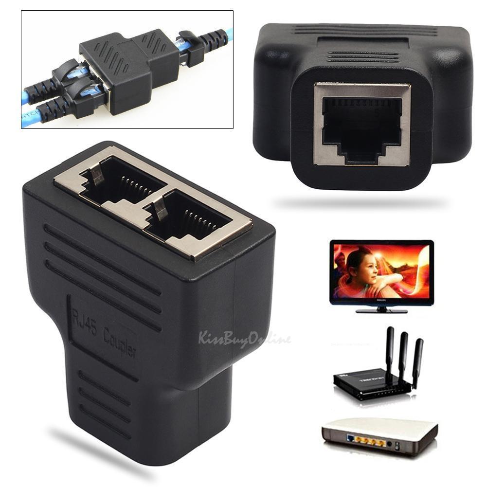 $2.53 - Rj45 Cat5/6 Ethernet Cable Lan Port 1 To 2 Socket Splitter ...