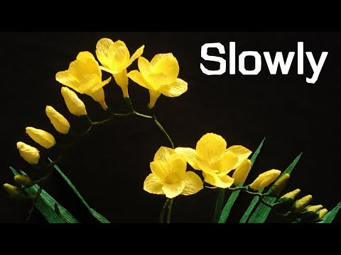 Abc Tv How To Make Freesia Paper Flower From Crepe Paper Slowly Craft Tutorial Youtube In 2020 Paper Flowers Paper Craft Tutorials Crepe Paper Crafts