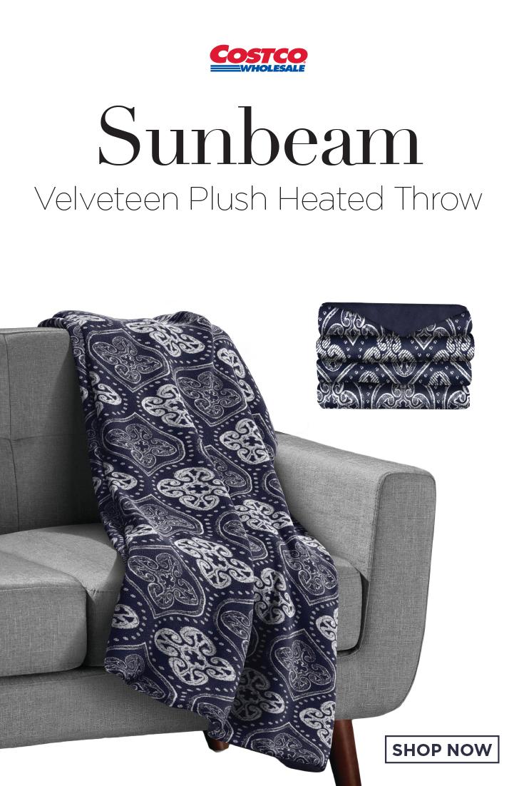 Sunbeam Velveteen Plush Heated Throw Heated Throw Heated Blanket Velveteen