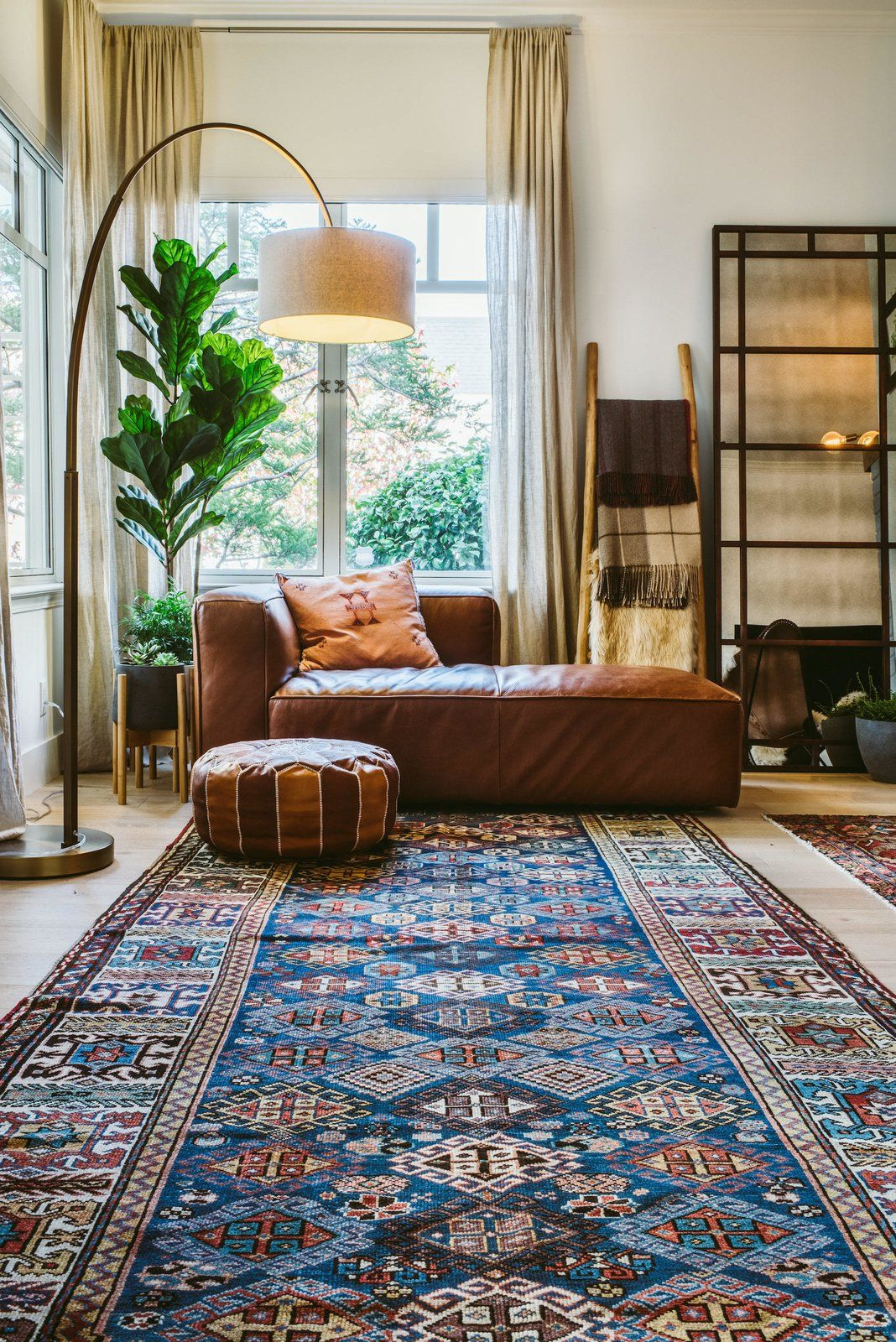 A Mediterranean Style Urban Oasis With Warm Industrial And Bohemian Bedroom Seating Area Stylish Living Room Warm Home Decor #warm #industrial #living #room