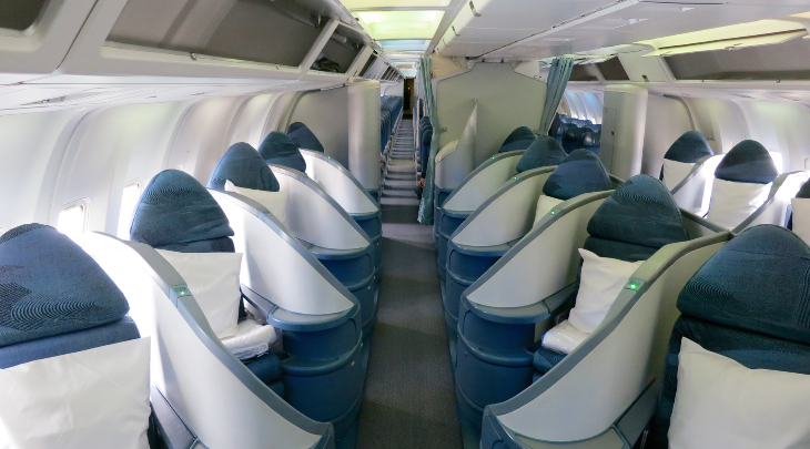 Air Canada Business Class Cabin 8 Rows Of 3 Lie Flat Beds