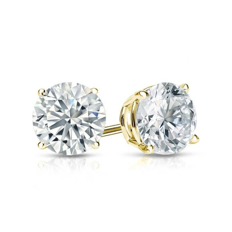 Cool Amazing 1/2 Ct Diamond Stud Earrings Round Diamond Solitaire ...