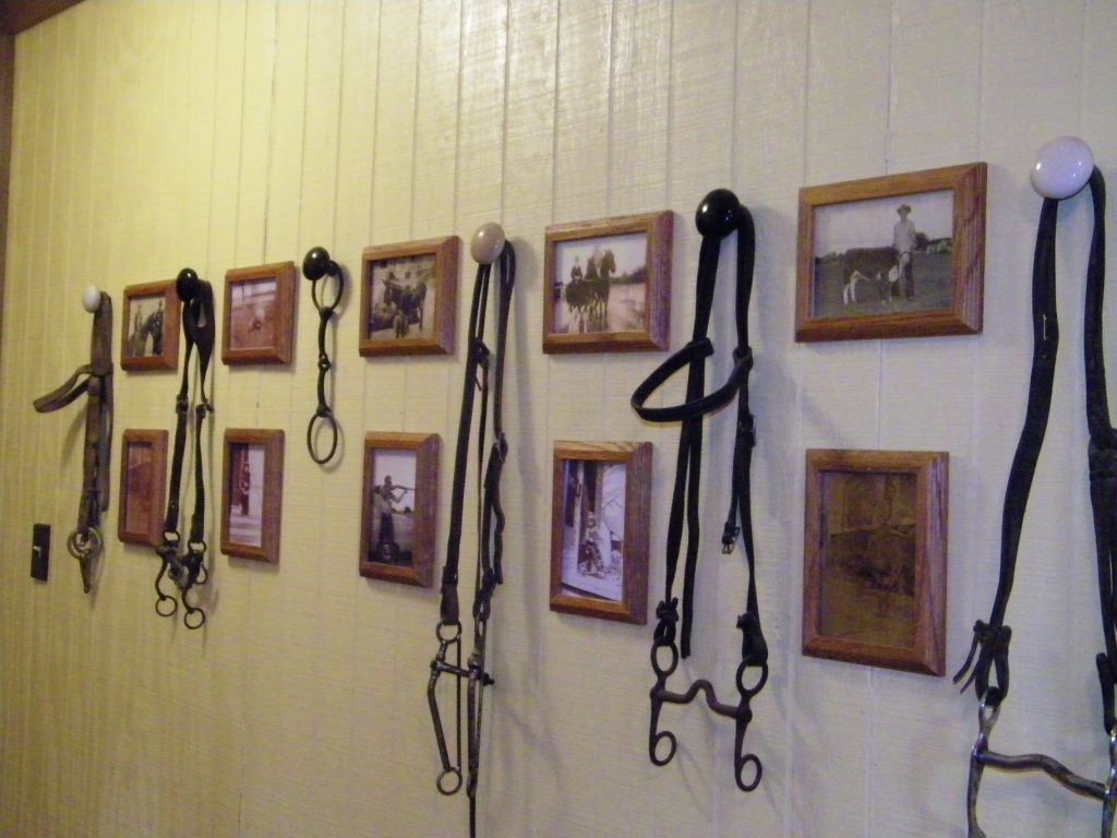Create a wall of old tack and art!