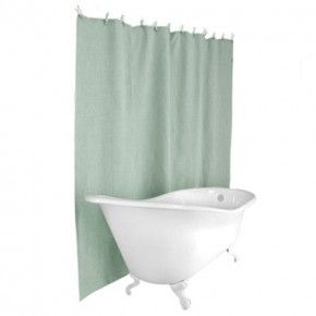 Hemp Shower Curtain Seafoam Blue Clean Shower Curtains Plastic Curtains Shower