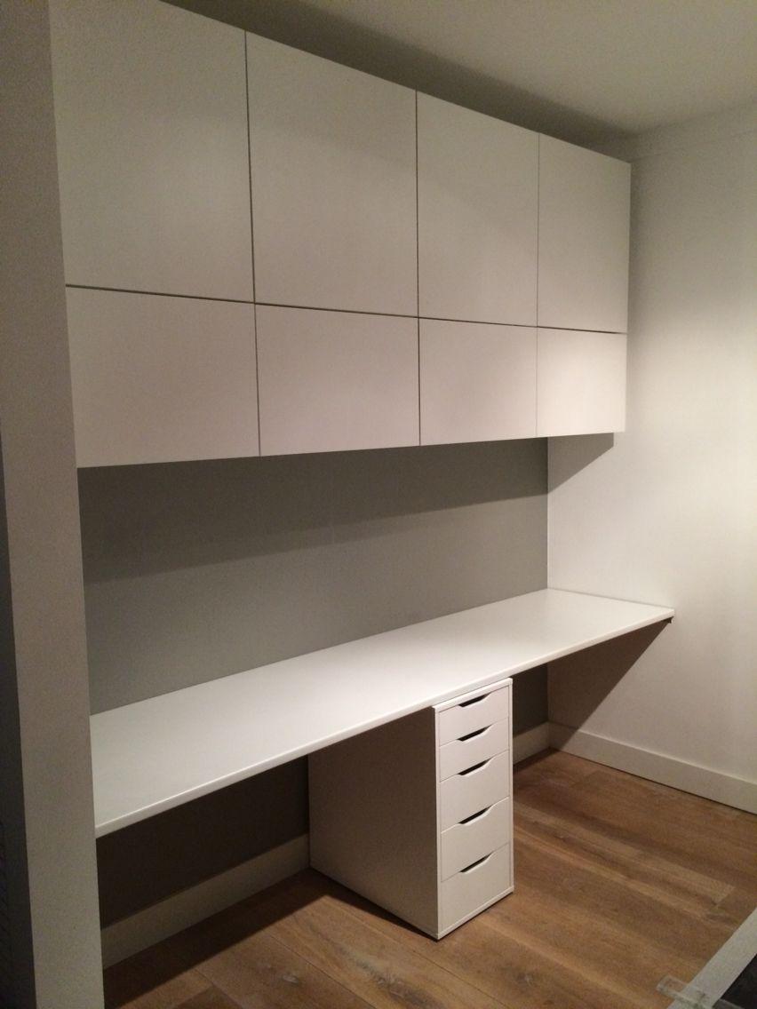 Ikea Hack Oberschränke Und Schreibtisch