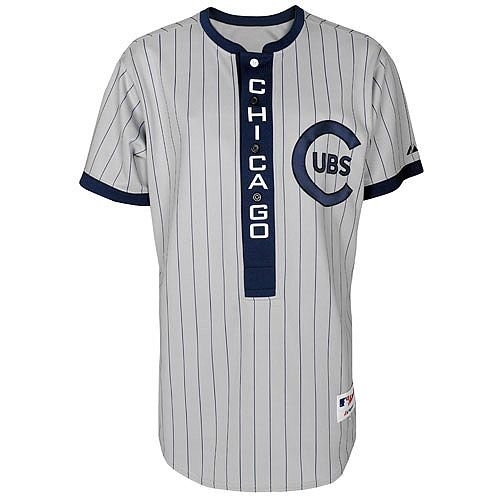 Chicago Cubs Authentic 1909 Turn Back The Clock Jersey  6f421d457e40