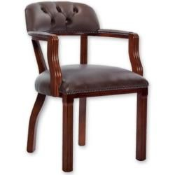Photo of Executive armchair Welsch made of real leather