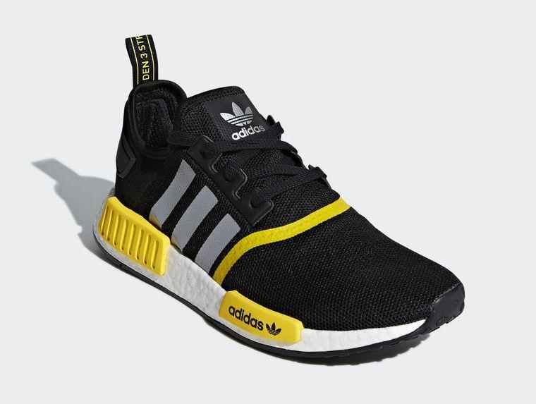 cheap Discount Adidas NMD Mens R1 Core Black FTWR White