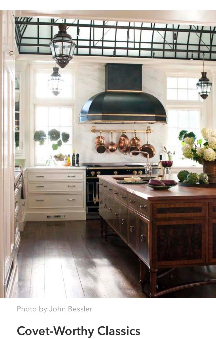 Classic With A Neo Steampunk Twist Freestanding Kitchen Island Freestanding Kitchen Old World Kitchens