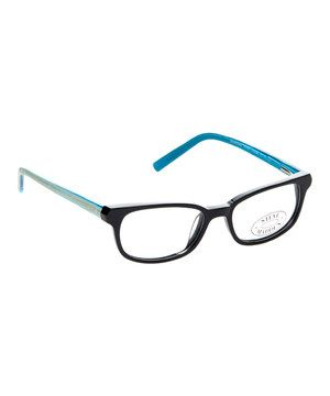 2156e72600 Look what I found on  zulily! Steve Madden Black   Blue Retro Eyeglasses by