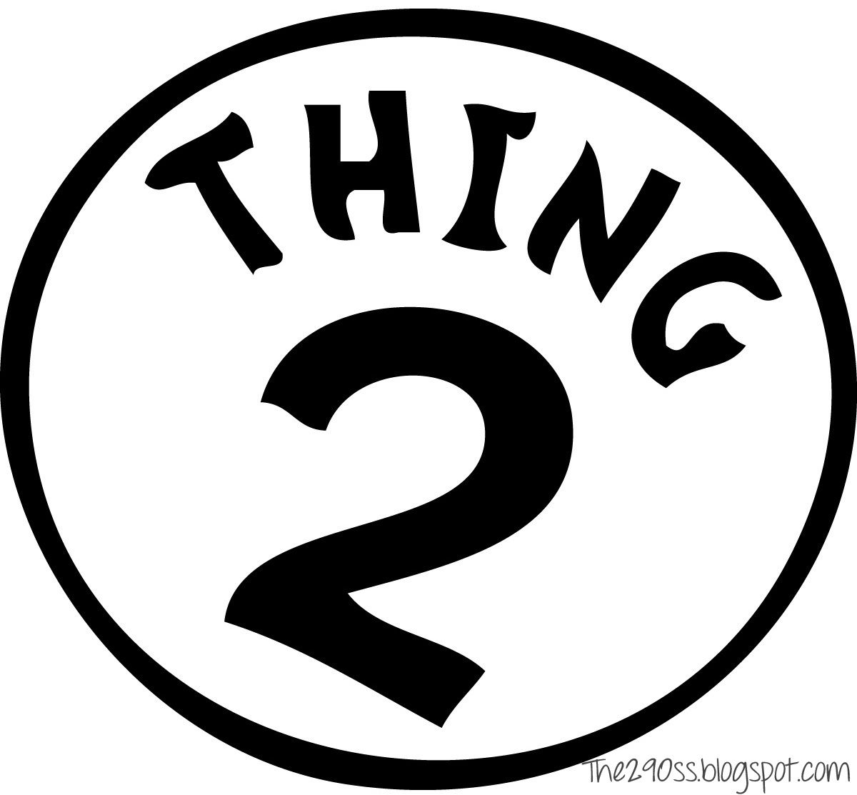 Thing One And Thing Two Treat Bags Free Printables