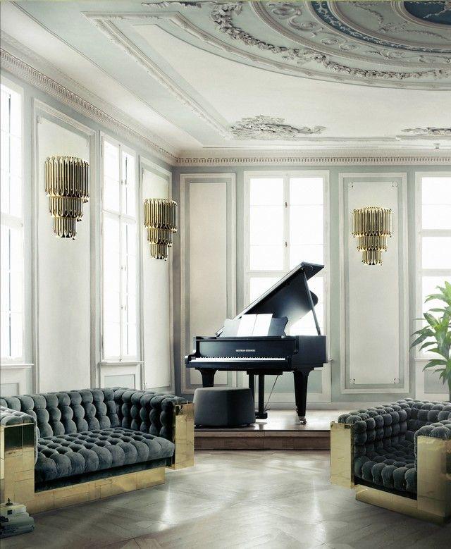 Erstaunliches Luxus Wohnzimmer für das perfekte Wohndesign Samt