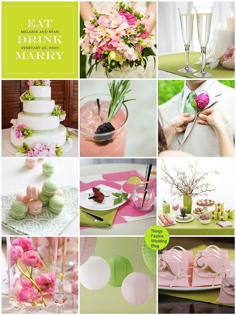 Idea Pink And Lime Wedding Theme Featuring Pantone S Bright Chartreuse Flambe