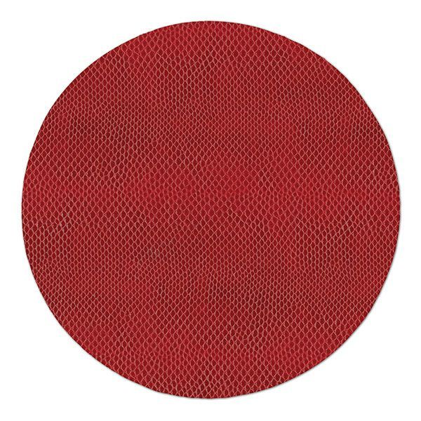 Set Of 6 Caspari Crimson Snakeskin Round Felt Backed Placemats Placemats Christmas Placemats Thanksgiving Placemats